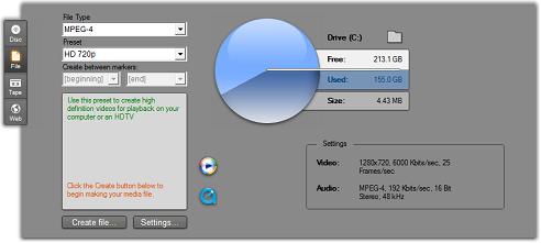 Pinnacle Studio image002 Output to file
