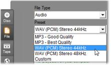 Pinnacle Studio image004 Output to file