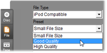 Pinnacle Studio image008 Output to file