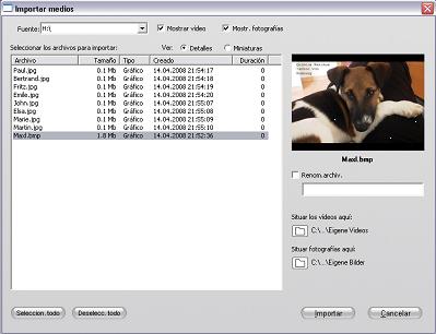 Pinnacle Studio image001 Importación de archivos desde dispositivos externos