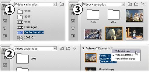 Pinnacle Studio image004 Sección de escenas de vídeo