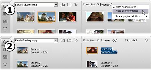 Pinnacle Studio image005 Sección de escenas de vídeo