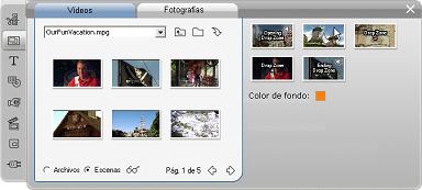 Pinnacle Studio image001 Utilización de la herramienta Editor de temas