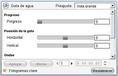 Pinnacle Studio image001 Modificación de los parámetros de los efectos