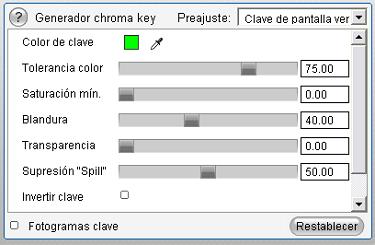 Pinnacle Studio image005 Herramienta Chroma key