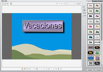 Pinnacle Studio image001 Editor de títulos