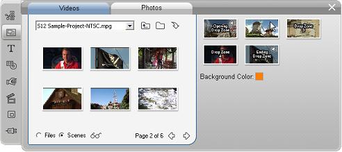 Pinnacle Studio image004 Teemojen käyttäminen