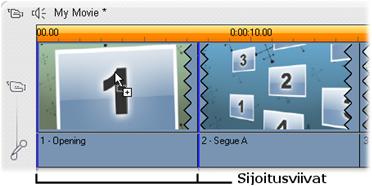 Pinnacle Studio image002 Teemaleikkeiden luominen