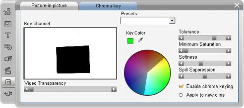 Pinnacle Studio image003 Väriavainnus työkalu