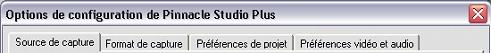 Pinnacle Studio image001 Paramétrage des options