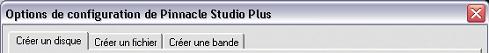 Pinnacle Studio image002 Paramétrage des options