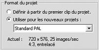 Pinnacle Studio image001 Format vidéo du projet
