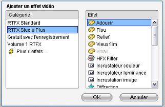 Pinnacle Studio image004 Utilisation de la liste des effets
