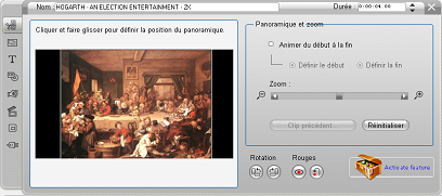 Pinnacle Studio image002 Modifier les propriétés d'un clip d'image