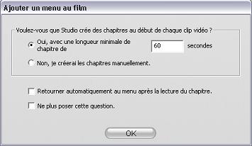 Pinnacle Studio image002 Utilisation des menus de l'Album