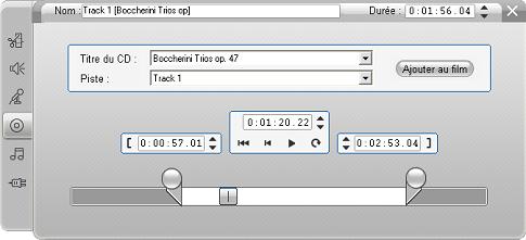 Pinnacle Studio image002 L'outil CD audio