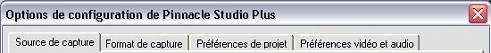 Pinnacle Studio image001 Options de configuration