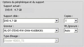 Pinnacle Studio image003 Paramètres de création de disques