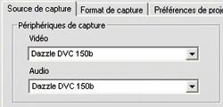 Pinnacle Studio image002 Le message d'erreur «Appareil vidéo pas trouvé» apparaît en mode de capture