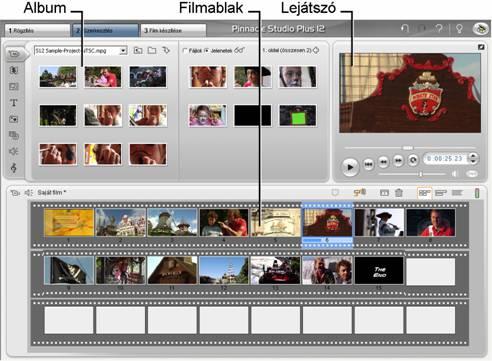 Pinnacle Studio image001 Szerkesztés mód
