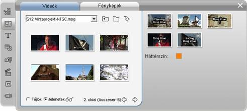 Pinnacle Studio image001 A Témaszerkesztő eszköz használata