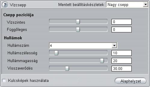 Pinnacle Studio image001 Az effektusok paramétereinek módosítása