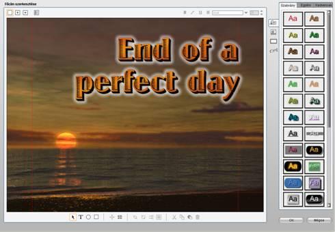 Pinnacle Studio image001 A Főcímszerkesztő