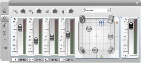 Pinnacle Studio image002 A Hangerő és balansz eszköz