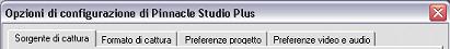 Pinnacle Studio image001 Impostazione delle opzioni