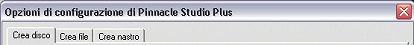 Pinnacle Studio image002 Impostazione delle opzioni