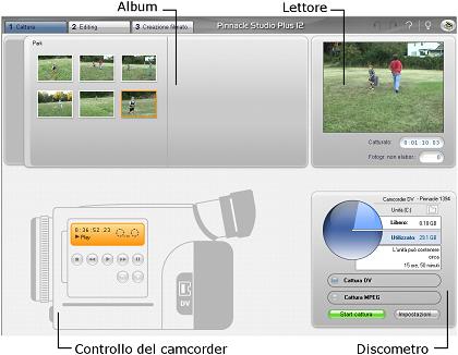Pinnacle Studio image001 L'interfaccia della modalità di cattura