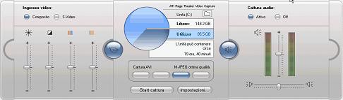 Pinnacle Studio image002 L'interfaccia della modalità di cattura