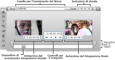 Pinnacle Studio image002 Taglio con lo strumento Proprietà clip
