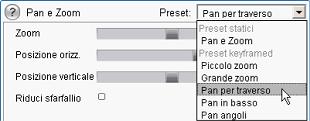 Pinnacle Studio image007 Editing delle proprietà di clip immagini