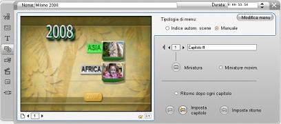 Pinnacle Studio image002 Editing con lo strumento Proprietà clip