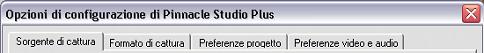 Pinnacle Studio image001 Opzioni di configurazione