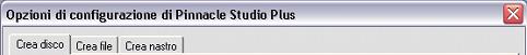 Pinnacle Studio image002 Opzioni di configurazione