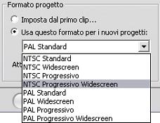 Pinnacle Studio image001 Preferenze progetto