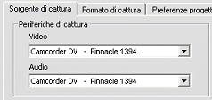 """Pinnacle Studio image001 Lerrore """"Periferica video non trovata"""" compare in modalità di cattura"""