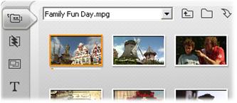 Pinnacle Studio image005 キャプチャしたビデオファイルを開く