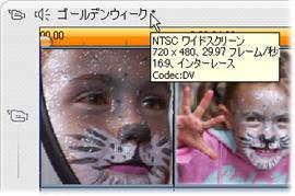Pinnacle Studio image002 プロジェクトビデオフォーマット