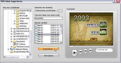 Pinnacle Studio image001 Video importeren van DVD