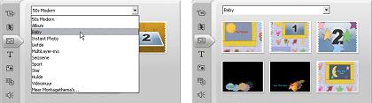 Pinnacle Studio image001 Thema's gebruiken