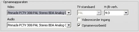 Pinnacle Studio image001 Instellingen voor opnamebron