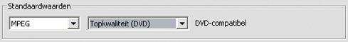 Pinnacle Studio image001 Instellingen voor het opnametype