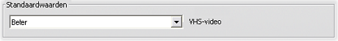 Pinnacle Studio image002 Instellingen voor het opnametype