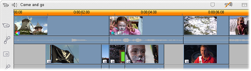 Pinnacle Studio 177 overlay video on timeline Kennismaken met het spoor overlay