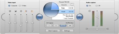 Pinnacle Studio image002 Digitaliseringsmodusens grensesnitt