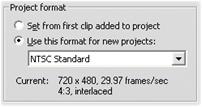 Pinnacle Studio image001 Prosjektets videoformat