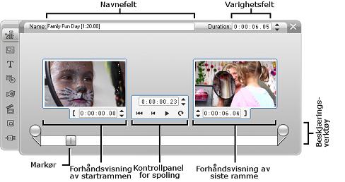 Pinnacle Studio image002 Trimming av videoklipp med Klippegenskaper verktøyet